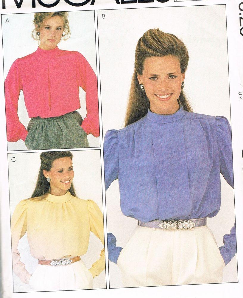 vintage Blouse Pattern -Long Sleeves - McCall\'s 8315 - Unused Miss ...