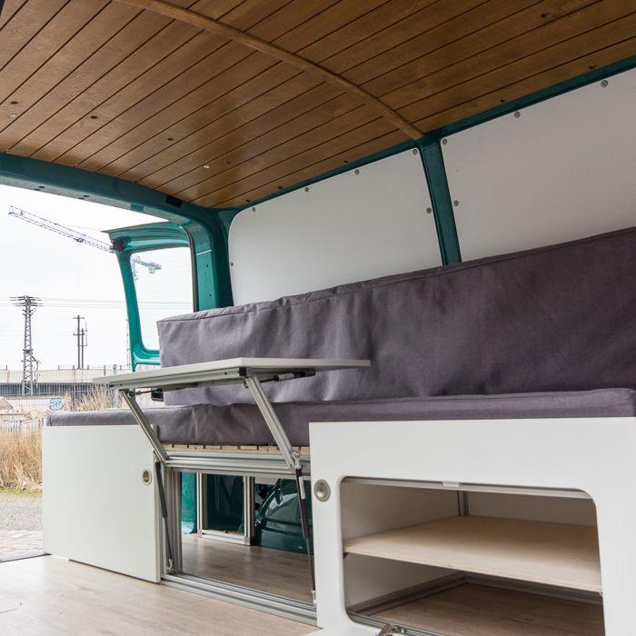 vw t4 t5 t6 campingbus ausbau bett camper van camping. Black Bedroom Furniture Sets. Home Design Ideas