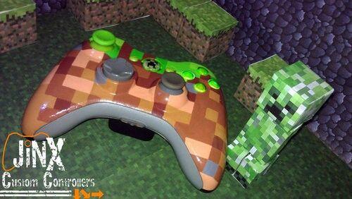 Custom Minecraft Controller For Xbox 360 Xbox Minecraft Video Games Xbox