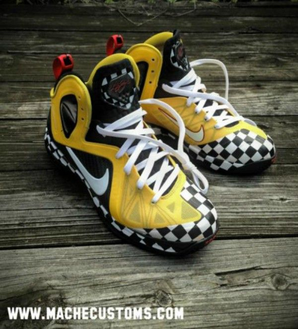 "great fit bbb2c a10a4 Nike Lebron 9 Elite ""Taxi Cab Confessions"" Custom - Style Engine"