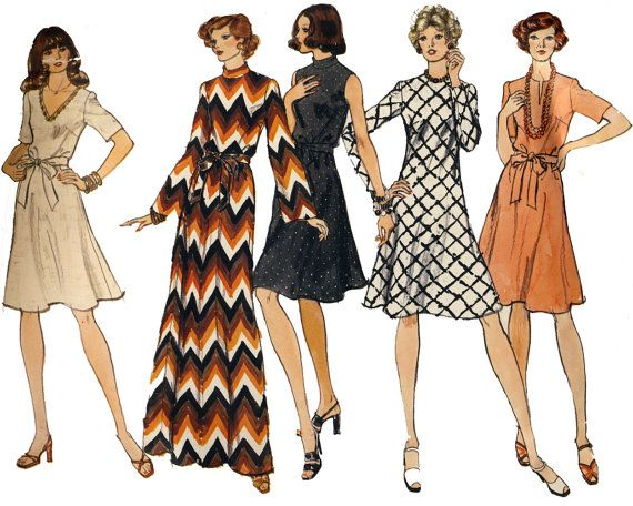 Maxi dress 1970 patterns