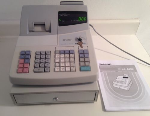sharp xe a202 electronic cash register with master keys user rh pinterest com Cash Register On Change sharp electronic cash register xe-a202 manual