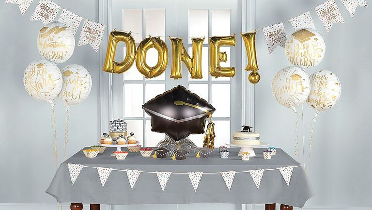 The Guest Of Honor Will Love These Awesome Graduation Party Ideas Graduation Party Centerpieces Graduation Party Decor Graduation Party Table