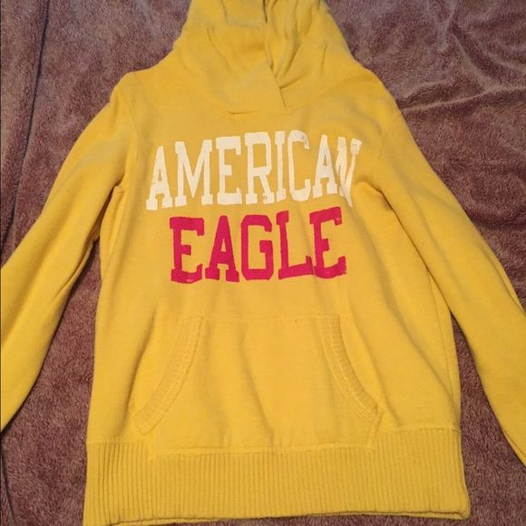 Hoodie Size med american eagle hoodie in great shape. Feel free to use offer botton. Happy shopping American Eagle Outfitters Tops Sweatshirts & Hoodies