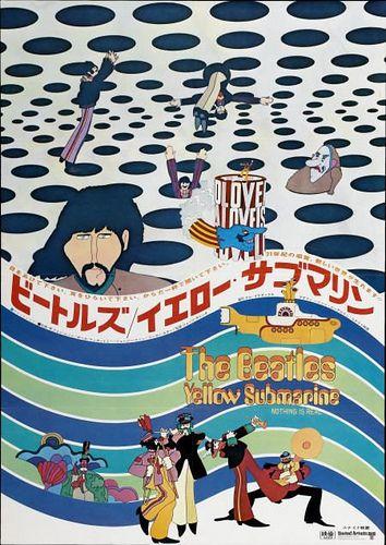 Yellow Submarine Poster From Japan Dengan Gambar
