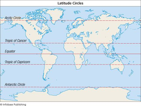 Great Circles Major Latitudes Map Homeschooling Pinterest - World map with latitudes