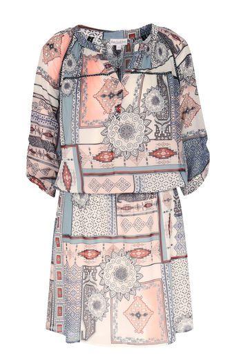 stretch seiden kleid nowi mit ethno muster - Kleid Ethno Muster