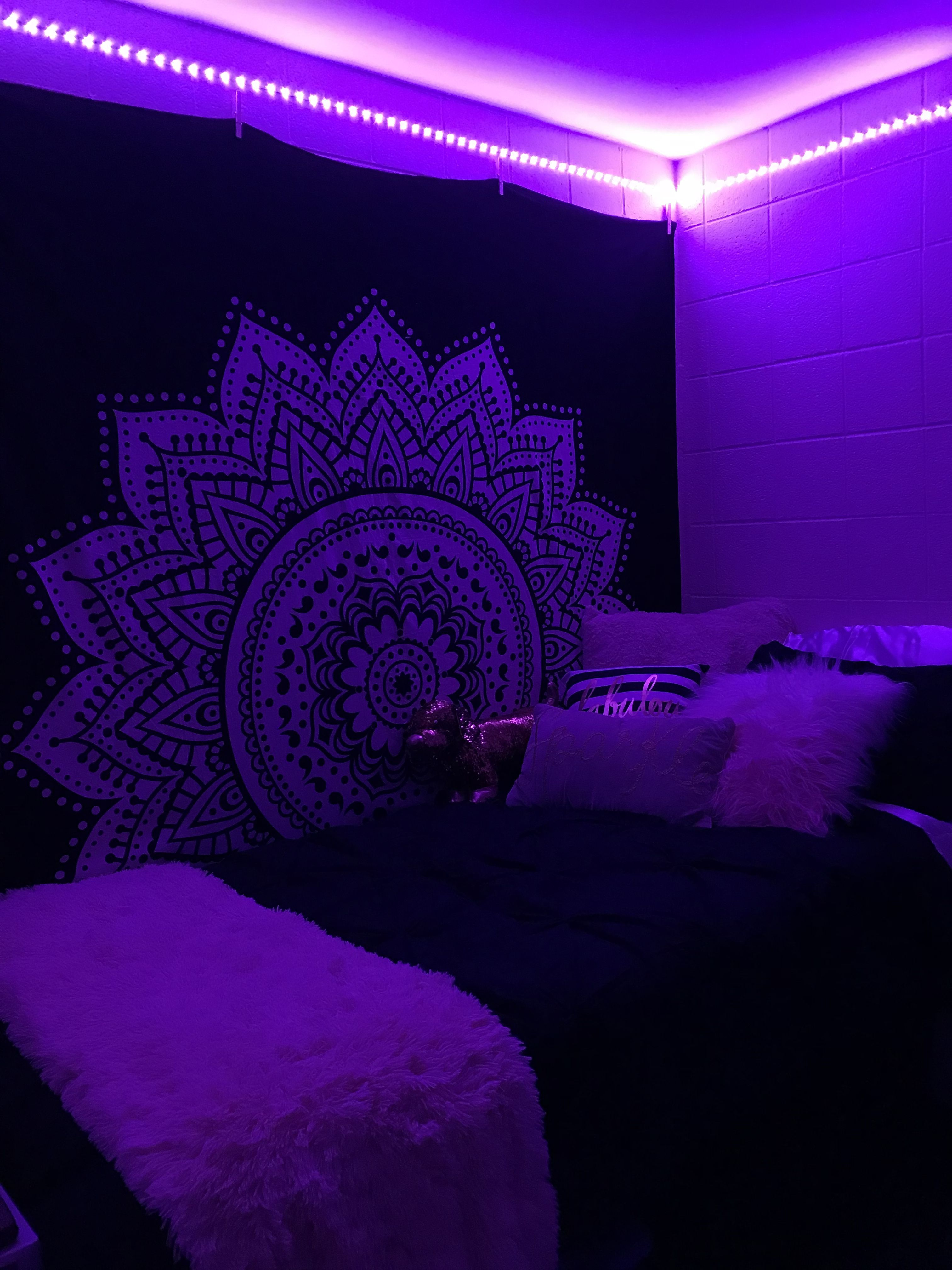 Bande Lumineuse Led My College Dorm It S A Vibe Black And Light Pick Tapestry