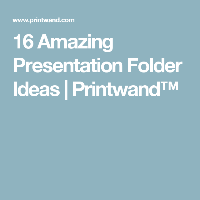 16 amazing presentation folder ideas printwand diy work