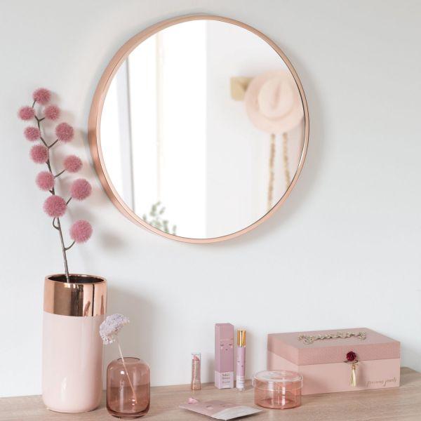 Copper Mirror D46, MADEMOISELLE BLOOM | Maisons du Monde US