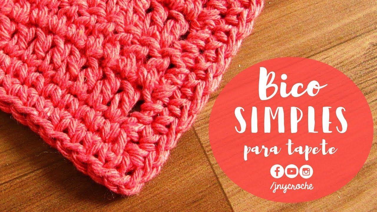 Bico De Croche Simples E Facil Para Tapete Aula 1 Jny Croche