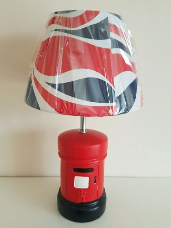 Exclusive novelty lamp featuring post box for table or bedside in home furniture diy
