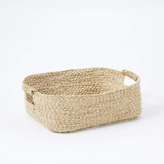 Metallic Woven Underbed Basket
