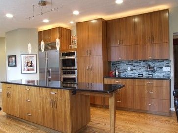 Modern Cherry Wood Kitchen Cabinets teak kitchen cabinets design ideas, pictures, remodel, and decor