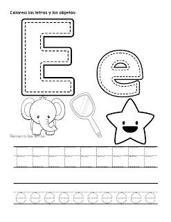 Fichas De Abecedario Para Colorear Y Aprender El Trazo De Las Letras Abecedario Para Ninos Ensenanza De Las Letras Actividades Del Alfabeto En Preescolar