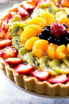 Fruit Tart... this fruit tart is as delicious as it is beautiful! It is the perfect summer treat!