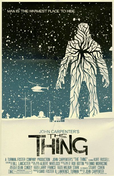 THE THING Movie Poster Horror  Art