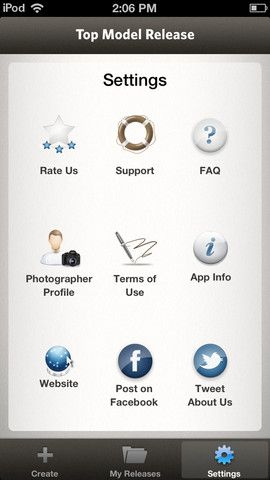Model release for iPad Photography, the business of Pinterest - liability release form