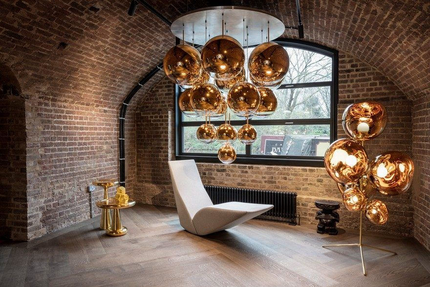 The Coal Office New Home For Tom Dixon S Latest Experiments And Innovations Tom Dixon Floor And Table Lamps Famous Interior Designers