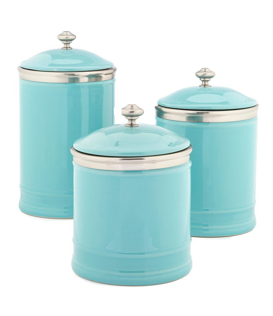 Turquoise Ceramic Canisters (Everything Turquoise) | Southern living ...