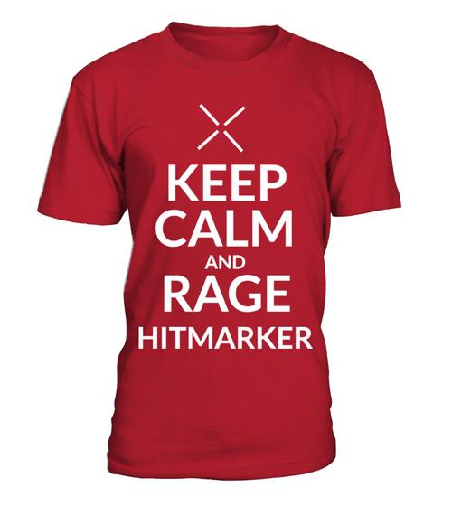 Keep Calm And Rage Hitmarker Gaming Shirt Gamer Shirt Mens Tops