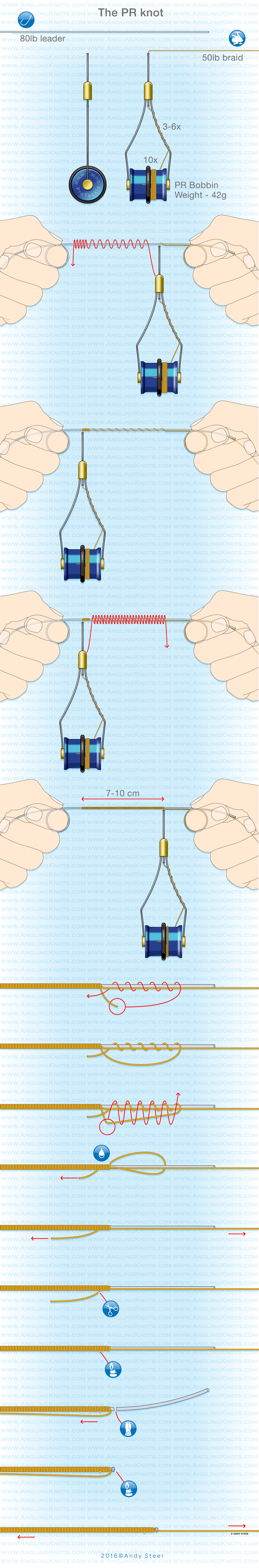 The Pr Or Page Ranking Knot Is A Very Strong And Low Profile Tying Diagrams Http Wwwfintalkcom Fishingknots Palomarknot