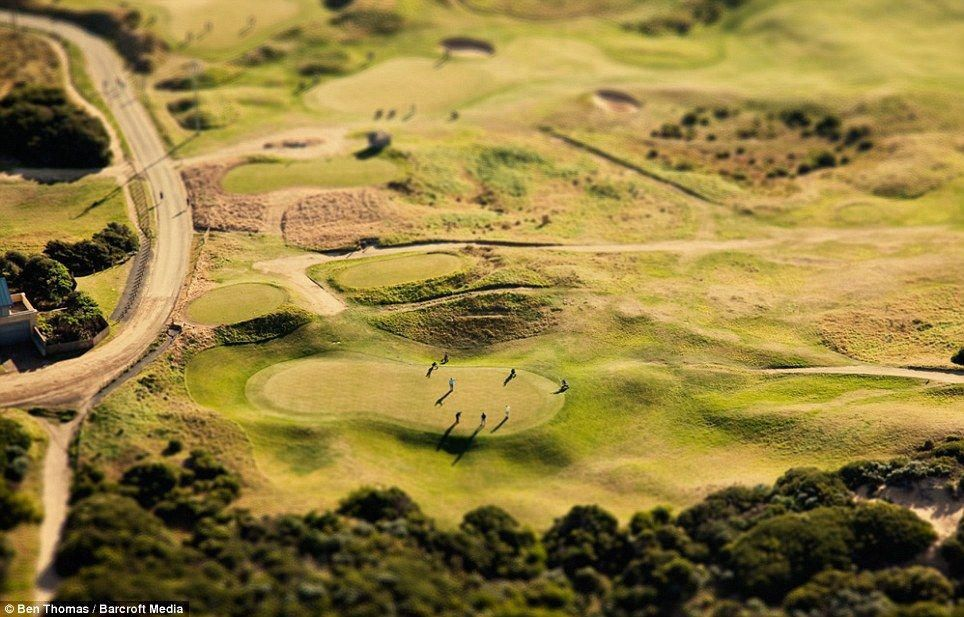 Teeing off Golfers play the course in Geelong, Australia