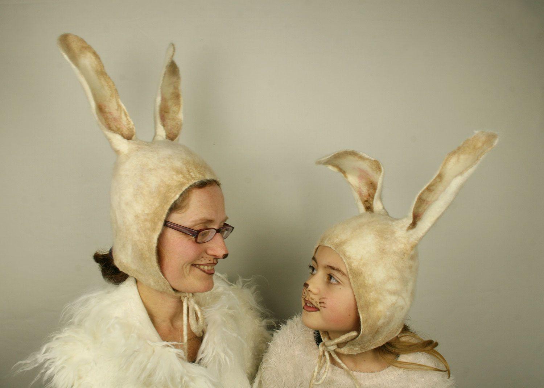 Rabbit Ears felted Hat in beige - Handmade wool bunny hat - Rabbit ears hat -  sc 1 st  Pinterest & Rabbit Ears felted Hat in beige - Handmade wool bunny hat - Rabbit ...