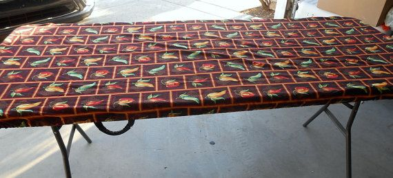 Custom Fitted Tablecloth Chili Pepper Print By PremierTableCovers