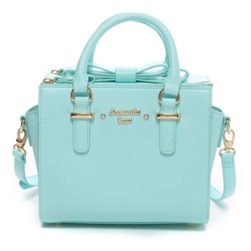 d88bd81d5cf5 Samantha-Thavasa-Vega-2WAY-Box-Bow-Bag-Small-Handbag-Kawaii-Cute-JAPAN