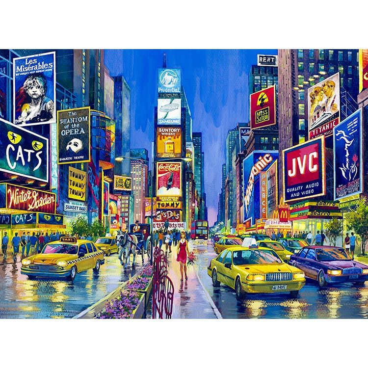 Watercolor New York: Times Square New York, Places, Times