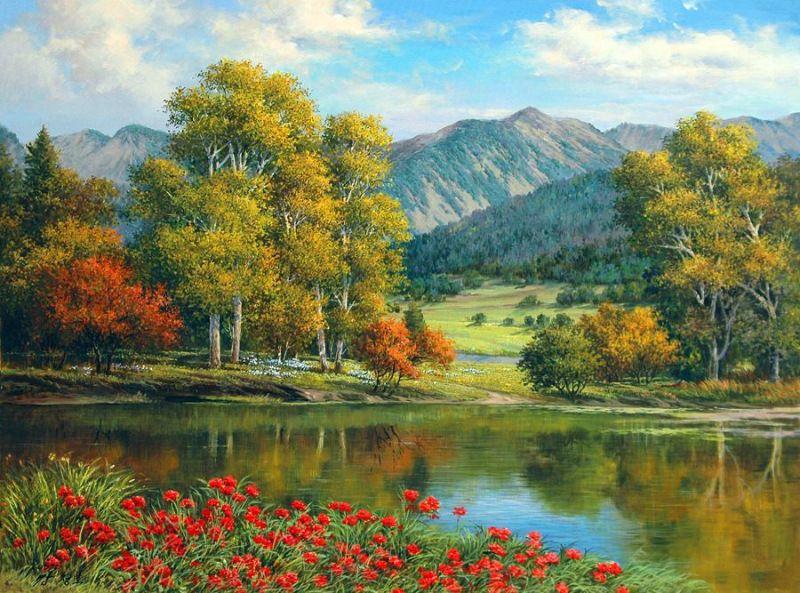 Красочные пейзажи корейского художника Kang Jung Ho ...