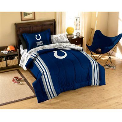 Indianapolis Colts Royal Blue 5 Piece Twin Bedding Set Bed In A