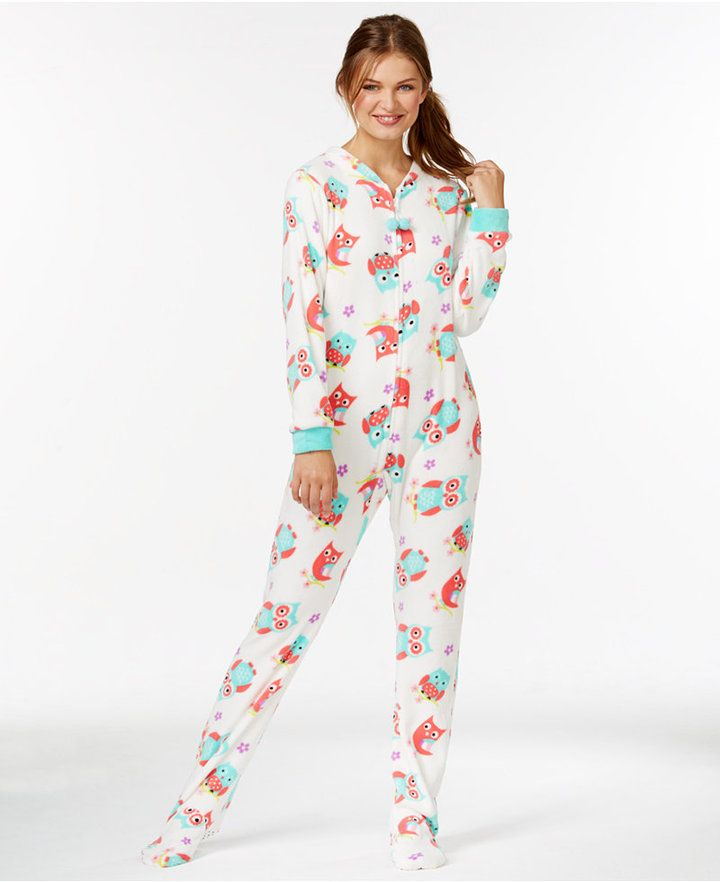 c9f51a789028 PJ Couture Plush Footed Adult Onesie Pajamas