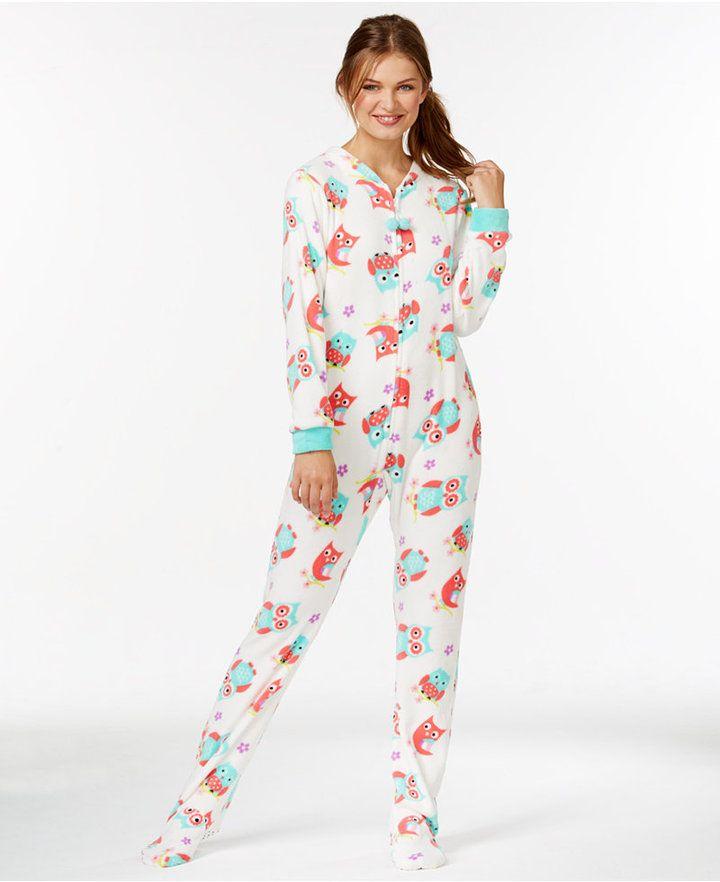 Pj Couture Plush Footed Adult Onesie Pajamas Teen Fashion