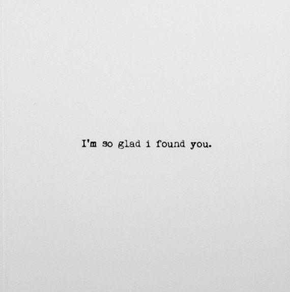 I'm so glad I found you. Valentine's Day Card.