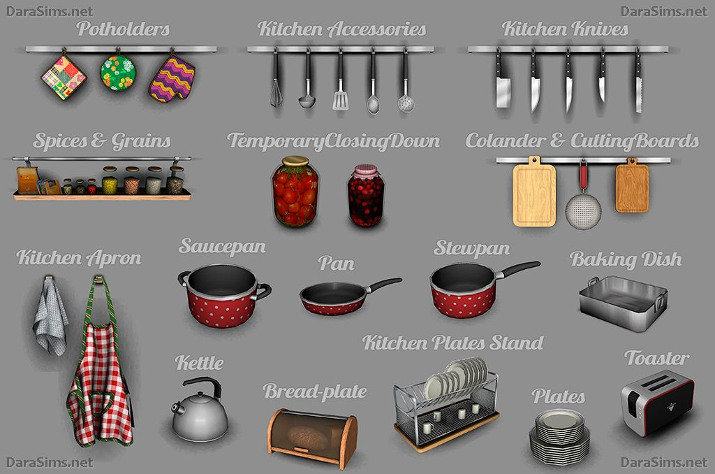 Kitchen decor set the sims 3 by dara savelly http for Sims 3 kitchen designs