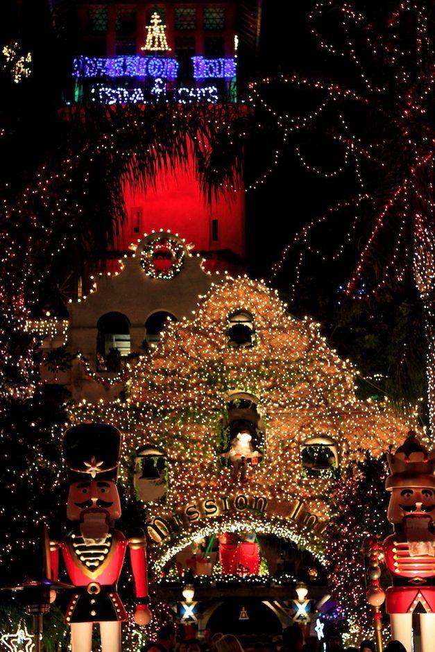 entrance to mission inn festival of lightsca by joshmc - Mission Inn Christmas