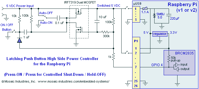Circuit Schematic Diagram For A Latching Mosfet Power