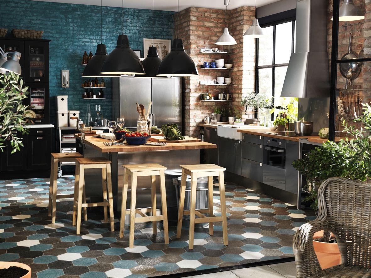 Legno e acciaio, per uno stile rustico contemporaneo. | Kitchen ...