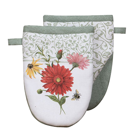 Oven Mitt I Floral Buzz Grabber Mitt Bee Hive Collection Bee Shop Floral Bee Hive