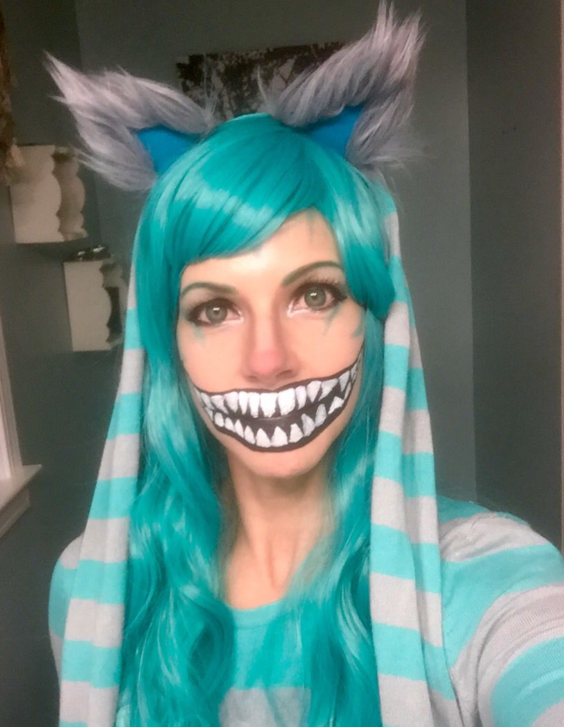 cheshire cat makeup blue and grey | cartooncreative.co
