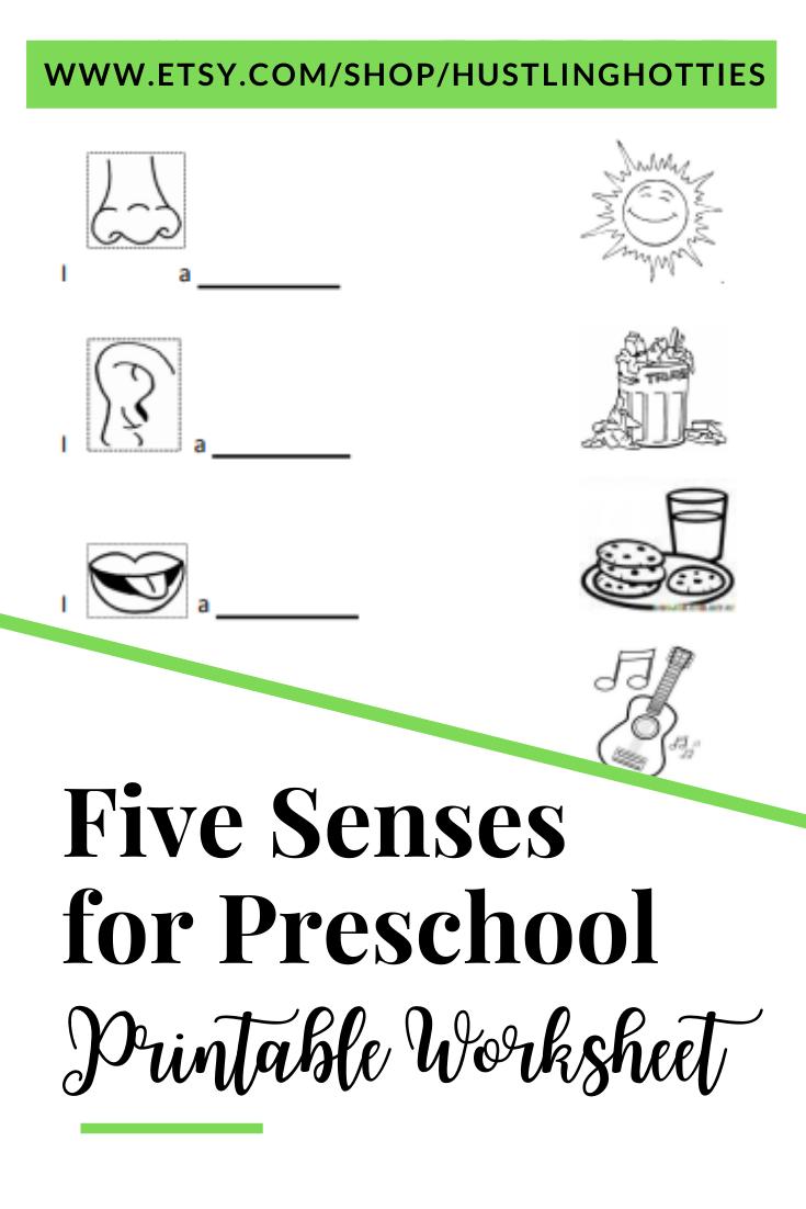 Five Senses For Preschool Printable Exercise Worksheet Home School Worksheet Printable Preschool Worksheets School Mom Homeschool [ 1102 x 735 Pixel ]