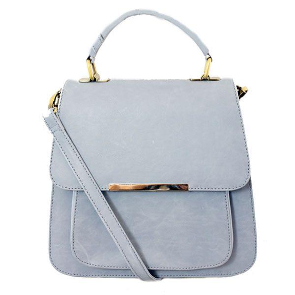 powder blue handbag