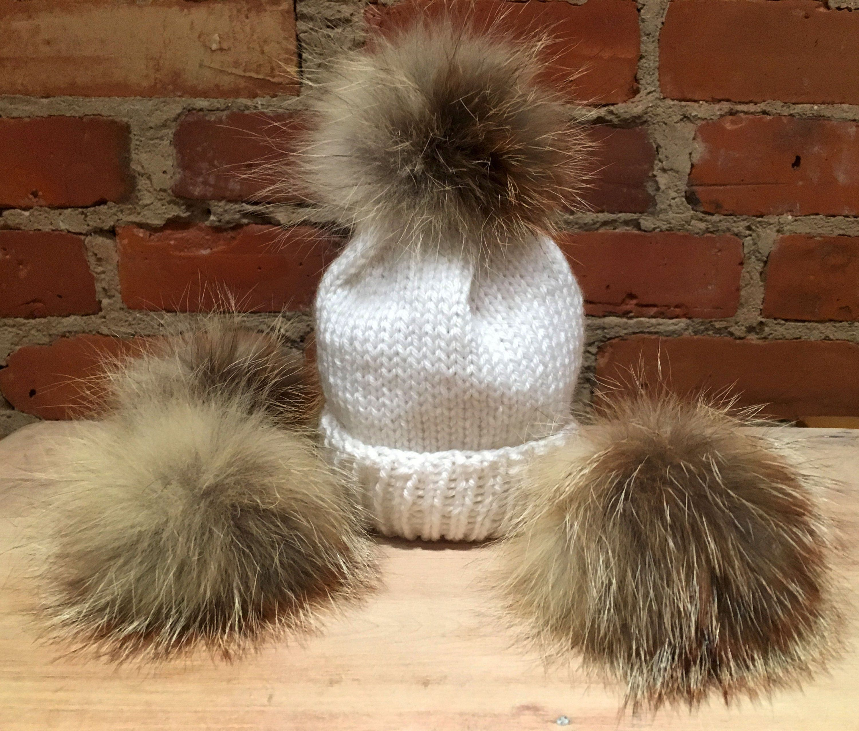 054a1cb8d Small Fox Pom, Fur Pom Pom, 3 Inch, Fox Fur, for Baby's Hat, Sandy ...