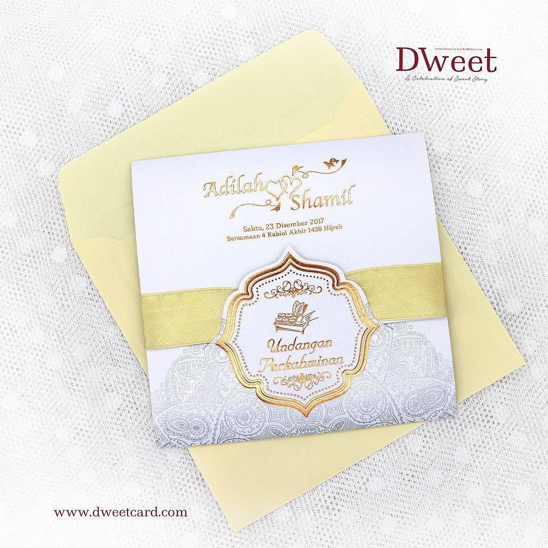 Design Kad Kahwin Kuning