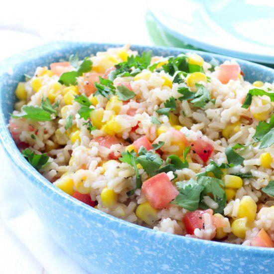 Corn And Tomato Rice Salad