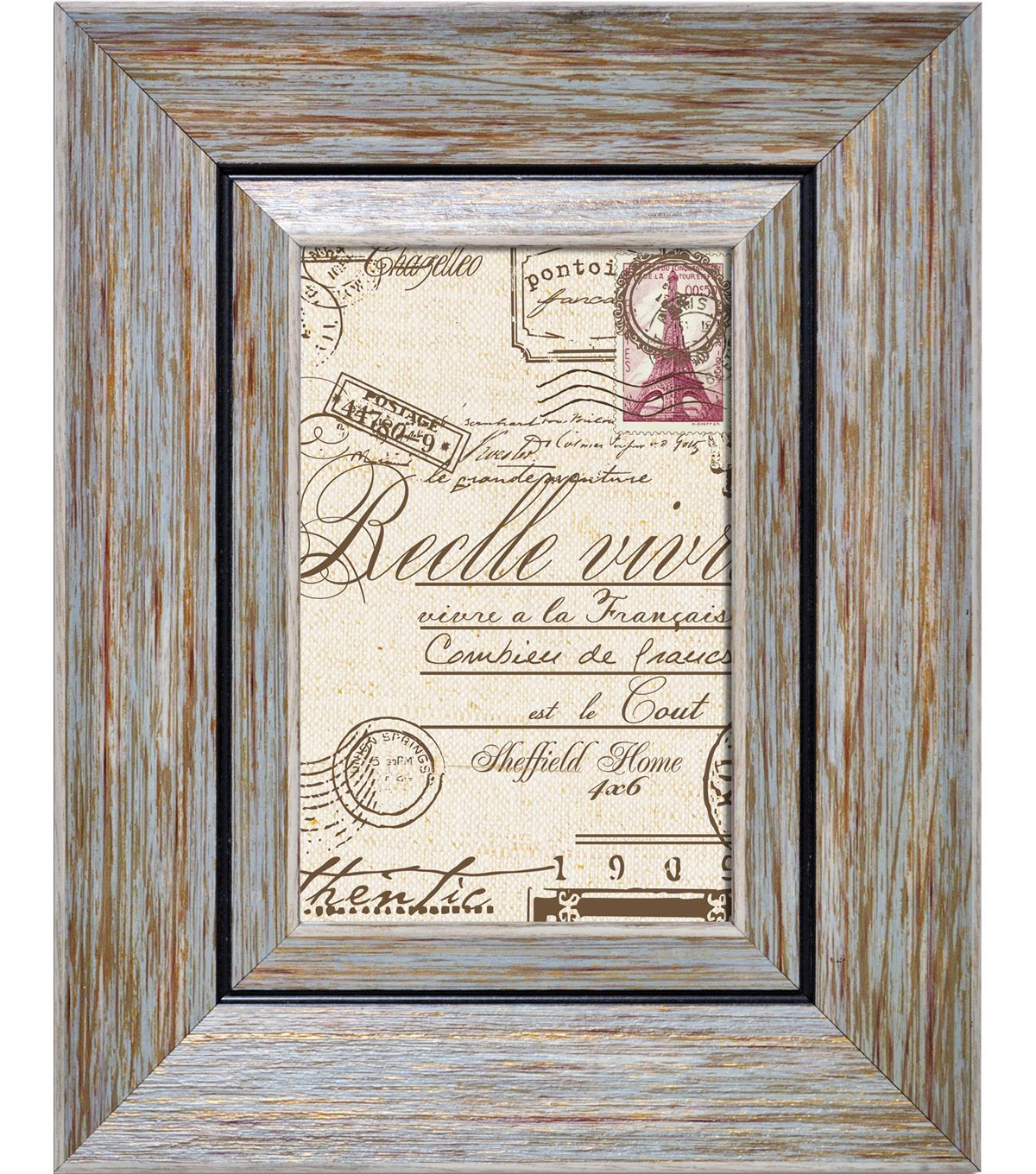 Sheffield Home Raised Border Frame 4x6 Blue Products Pinterest