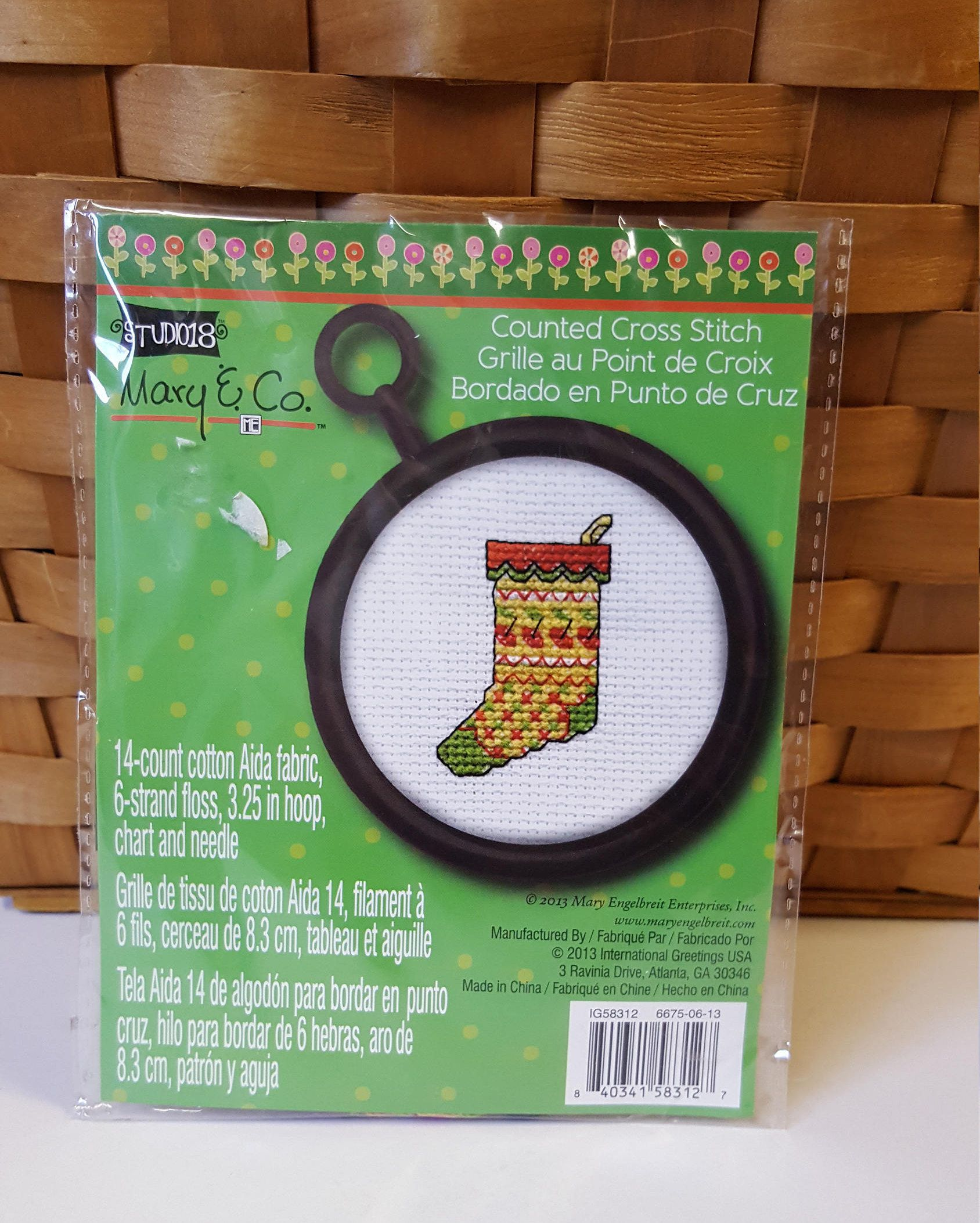 Diy Stocking Cross Stitch Kit Ornament Cross Stitch Kids Cross