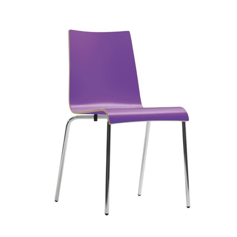 Bolero Plyform Stacking Sidechair Purple (Pack of 4) - CP754